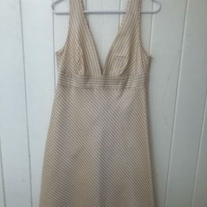 Vintage J Crew silk party dress seersucker